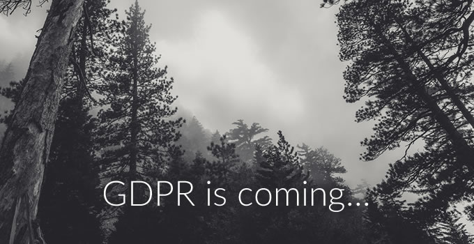 GDPR is coming...